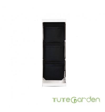 Jardinera vertical blanca